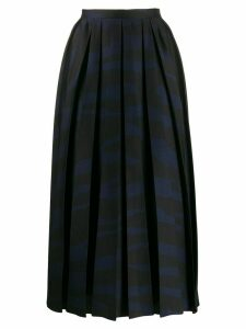 Erika Cavallini zebra-print pleated skirt - Black
