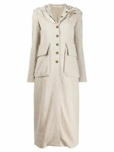 Cherevichkiotvichki hooded single breasted coat - Neutrals