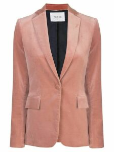 FRAME velvet single-breasted blazer - PINK