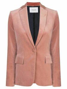 FRAME velvet single-breasted blazer - Pink