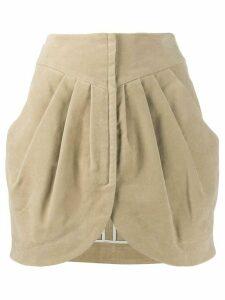 Isabel Marant velvet Delijah skirt - Neutrals