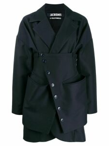 Jacquemus layered short coat - Blue
