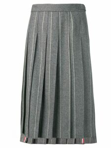 Thom Browne Shadow Stripe Flannel Skirt - Grey