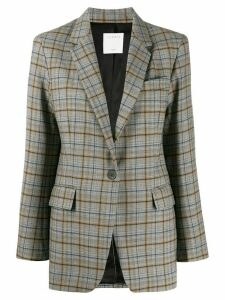 Sandro Paris checked pattern blazer - Grey