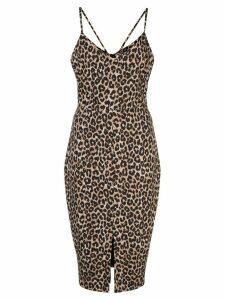 Likely Brooklyn leopard print dress - Brown