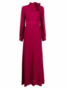 Goat Irene neck-tie long dress - Red