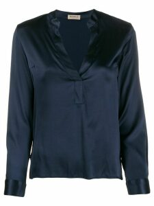 Blanca v-neck blouse - Blue