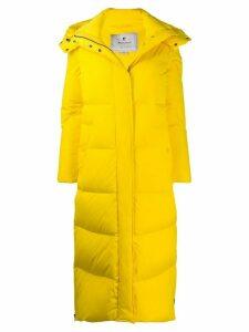 Woolrich long hooded down coat - Yellow