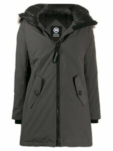 Canada Goose hooded zipped coat - Grey
