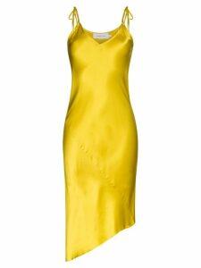 Marques'Almeida asymmetric silk slip dress - Yellow