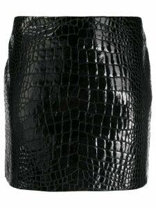 Versace embossed crocodile-effect mini skirt - Black