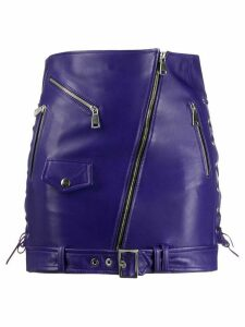 Manokhi Biker skirt - Purple