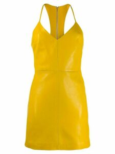 Manokhi leather mini dress - Yellow