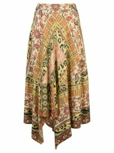 Etro Carpet-print midi skirt - Orange