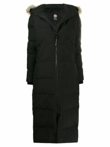Canada Goose fur hooded padded coat - Black