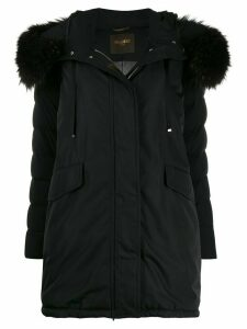 Moorer zip-front parka coat - Black