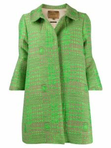 ALESSIA SANTI zigzag print coat - Green