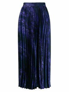Andamane pleated midi skirt - Purple