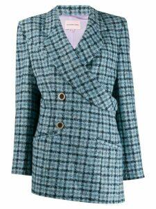 Natasha Zinko wrap checked blazer - Blue