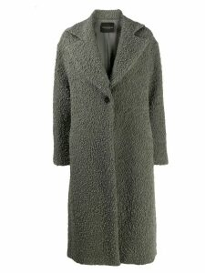 Erika Cavallini wide-lapel midi coat - Grey