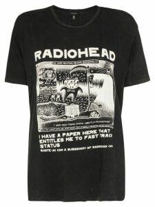 R13 radiohead-print T-shirt - Black