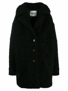 Essentiel Antwerp Tribal oversized teddy coat - Black
