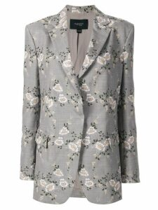 Giambattista Valli floral embroidered blazer - Grey
