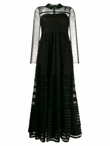 Red Valentino point d'esprit long dress - Black