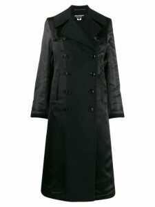 Junya Watanabe double-breasted contrast-sleeve coat - Black