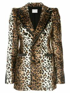 Valentina Shah Jessica leopard print blazer - Brown