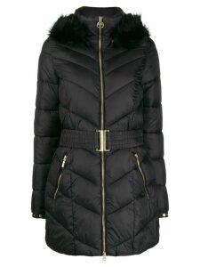 Barbour belted puffer coat - Black