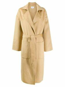 Nanushka oversized robe coat - NEUTRALS