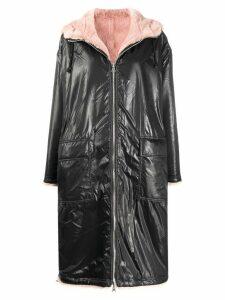 STAND STUDIO contrast zipped coat - Black