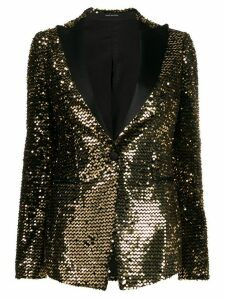 Tagliatore single breasted embellished blazer - Gold