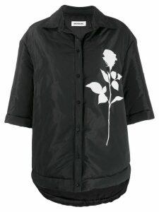 Brognano boxy fit rose print jacket - Black
