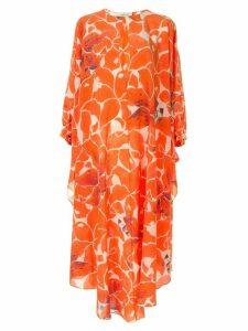 Kalmar hibiscus print maxi dress - Orange