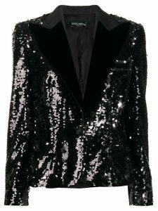 Dolce & Gabbana sequin embroidered blazer - Black