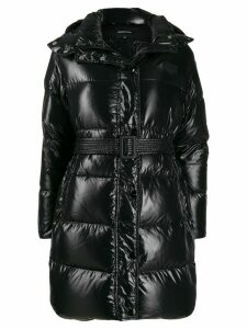 Duvetica belted padded coat - Black