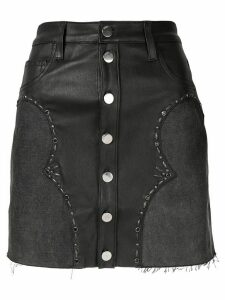 Amiri front button A-line skirt - Black