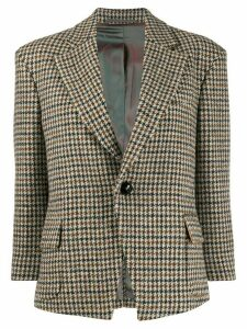 Vivienne Westwood Anglomania fitted checked blazer - Brown