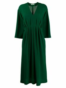 Odeeh v-neck loose-fit dress - Green