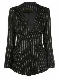 Christian Siriano striped tailored blazer - Black