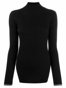 Plan C ribbed fitted jumper - Black