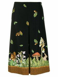 Vivetta printed hem skirt - Black