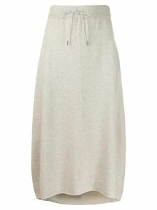 Fabiana Filippi drawstring waist skirt - Grey