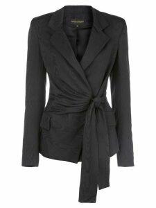 Christian Siriano wrap front blazer - Black