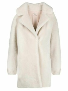 Yves Salomon Meteo Curly textured coat - Neutrals