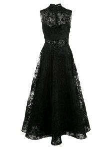 Christian Siriano high-neck lace dress - Black