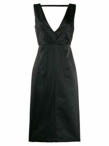 Nº21 pleated details midi dress - Black