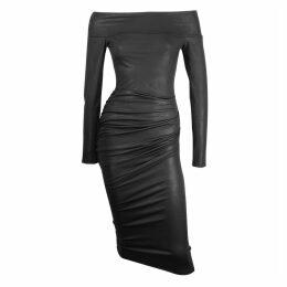 Me & Thee - C'est La Vie Black Off Shoulder Bodycon Dress